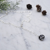 Ondrea Necklace Swarovski Crystal Silver Night