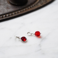 Ruby Swarovski Crystal Charm Add On (July birthstone)