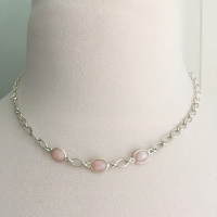 One of a Kind Pink Opal Necklace