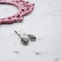 Naomi Earrings Grey Moonstone