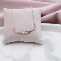 Harlowe Sterling Silver and CZ Necklace