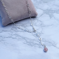 One of a Kind Pink Opal Adjustable Necklace