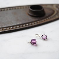 Amethyst Swarovski Crystal Charm Add on (February birthstone)