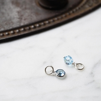 Aquamarine Swarovski Crystal Charm Add on (March birthstone)