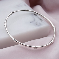 Cassidy Sterling Silver Bamboo Bangle