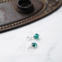 Emerald Swarovski Crystal Charm Add On (May birthstone)
