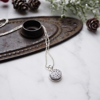 Isla Necklace in Crystal
