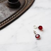 Garnet Swarovski Crystal Charm Add On (January birthstone)