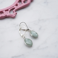 Naomi Earrings Aquamarine
