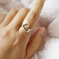 Stylized Open Heart Ring
