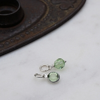 Peridot Swarovski Crystal Charm Add On (August birthstone)