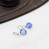 Sapphire Swarovski Crystal Charm Add On (September birthstone)