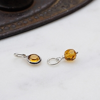 Topaz Swarovski Crystal Charm Add on (November birthstone)