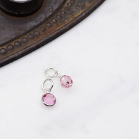 Tourmaline Swarovski Crystal Charm Add On (October birthstone)