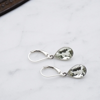Valentina Earrings Green Amethyst