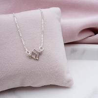 Weslie Double Rhombus Sterling Silver Necklace